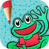 播放和彩色的动物游戏的孩子 - 连接点和画图纸 1.1