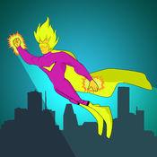 超级英雄极端跳线对决 - 最好的天空赛车街机游戏 2