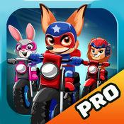 Racing Bikes. 比賽為孩子們的遊戲 超級英雄寵物比賽 超級