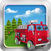 消防车和消防员:...