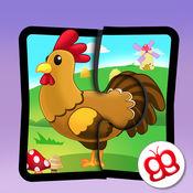 儿童拼图123 - 农场风光篇 - 儿童最快乐的学习游戏 4.4
