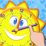 有趣的说出时间游戏 - 学习如何阅读用互动的模拟时钟的钟