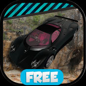 超级真正的黑色跑车停车场 1