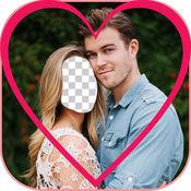 情人节面对互换 - 最好的爱夫妇照片衣服 1