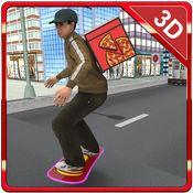 滑板比萨外卖 - 高速电路板骑行和比萨男孩模拟器游戏 1