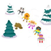 滑雪比赛免费游戏 - 容易孩子雪赛车 1