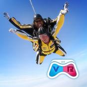 跳伞VR视频播放...