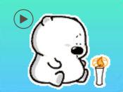 白熊动画贴纸 1
