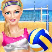 夏季沙滩排球派...