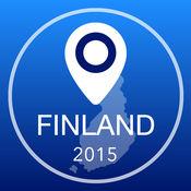 芬兰离线地图+城市指南导航,景点和运输 2.5