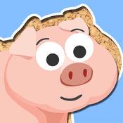 免费玩农场动物卡通 为幼儿和学龄前儿童而设的拼图游戏 1