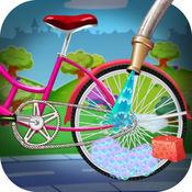 儿童自行车脏洗 - 儿童自行车修理游戏 1