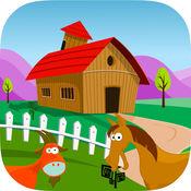 农场冒险的孩子 与动物和字母为儿童,幼儿,婴儿,男孩和女孩的