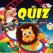 Wild Animals Quiz : 学习动物名称 1