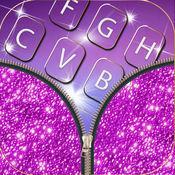 亮粉的键盘为女孩 – 丰富多彩的主题背景同泛着粉红色按键
