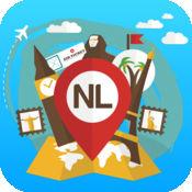 荷兰 离线旅游指南和地图。城市观光 阿姆斯特丹,鹿特丹,马