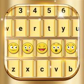 金 键盘 更改 表情符号 主题 字体 1