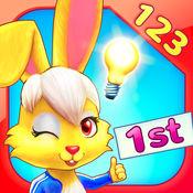 Wonder Bunny:好奇小兔数学赛跑:一年级应用-数字,加法,减