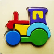 儿童木拼图游戏...