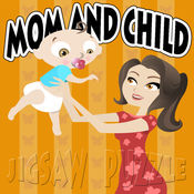 孩子们的的母亲和孩子拼图游戏 1