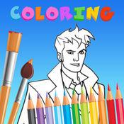 染色 书 对于 小子 教育性 游戏 - Doctor Who Edition 1