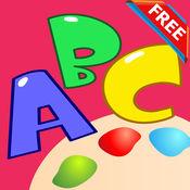 颜色:ABC动物字母着色书页童装成人的学习教育游戏幼儿游戏