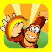 香蕉疯狂岗:丛林探秘动物运行游戏 1