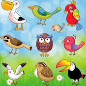 着色页:鸟! - 着色书为幼儿 - 儿童游戏 - 为孩子们的应用程