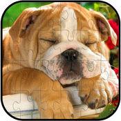 狗动物拼图游戏免费为孩子和成人 1