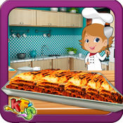 牛肉烤宽面条烹饪&美味的食物制造商游戏 1