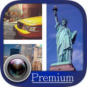纽约照片拼贴和贴纸 - 临 1