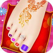 指甲油漆 - 腿部手术和纹身游戏 1
