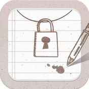 私密备忘录—带指纹密码锁的记事本! 1