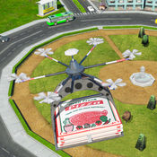 未来派无人机披萨交付RC四重直升机游戏 1