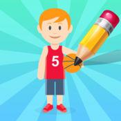 图画书 儿童学习与球的游戏: 运动和足球