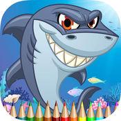 图画书的海洋动物高清:学画画和颜色鲨鱼,水母,螃蟹和更多 1