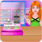 超市 商店 现金 登记册 - 收银员 游戏