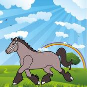 着色的网页:马和小马! - 着色页为幼儿 - 儿童游戏 - 为孩子