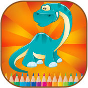 着色书恐龙的孩子 1