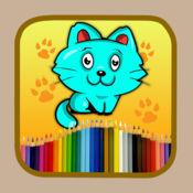 着色页的男孩和女孩绘画游戏 1