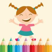 图画书的女孩 - 色彩书籍。 1