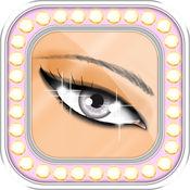 化妆教程与镜子...