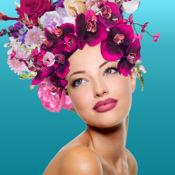 花冠头发照片蒙太奇应用 - 更改样式和试穿首饰头发免费 – 花圈头部