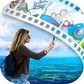 旅行旅游幻灯片创建一個短視頻與圖片