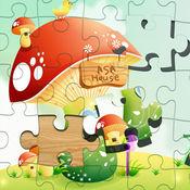 儿童拼图:可爱的卡通拼图游戏