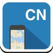 中国 离线地图,指南,天气,酒店。免费导航。GPS 1