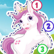 儿童小马拼图教教我之描红和数数——了解粉色小马、可爱的