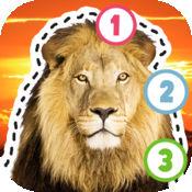 儿童益智 孩子们的游戏. 教我用野生动物图片追踪&数数:画出