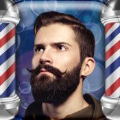 理发店工作室 – 美丽胡须和胡子贴纸在最好的发型沙龙对男