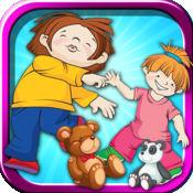 幼儿园彩色自旋家家 - 一个有趣的活动艺术制作游戏的孩子